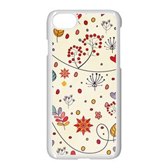 Spring Floral Pattern With Butterflies Apple Iphone 7 Seamless Case (white)