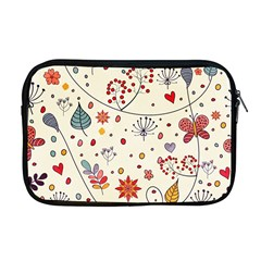 Spring Floral Pattern With Butterflies Apple Macbook Pro 17  Zipper Case