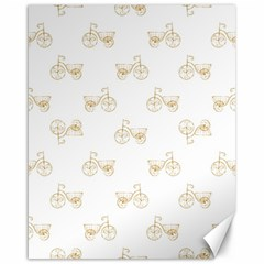 Retro Bicycles Motif Vintage Pattern Canvas 16  x 20