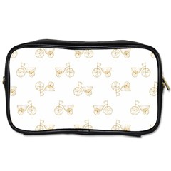 Retro Bicycles Motif Vintage Pattern Toiletries Bags