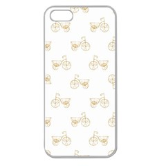 Retro Bicycles Motif Vintage Pattern Apple Seamless iPhone 5 Case (Clear)