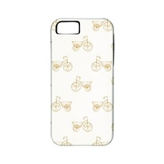 Retro Bicycles Motif Vintage Pattern Apple iPhone 5 Classic Hardshell Case (PC+Silicone)