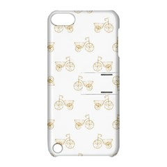 Retro Bicycles Motif Vintage Pattern Apple iPod Touch 5 Hardshell Case with Stand