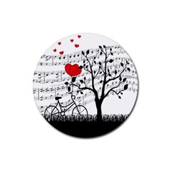 Love song Rubber Round Coaster (4 pack)