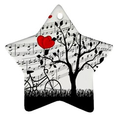 Love song Star Ornament (Two Sides)