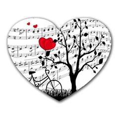 Love song Heart Mousepads