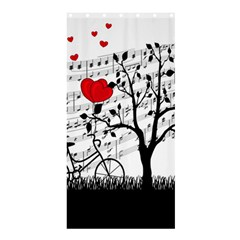 Love song Shower Curtain 36  x 72  (Stall)