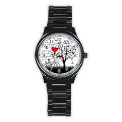 Love song Stainless Steel Round Watch