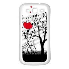 Love song Samsung Galaxy S3 Back Case (White)