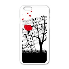 Love song Apple iPhone 6/6S White Enamel Case