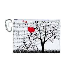 Love song Canvas Cosmetic Bag (M)
