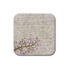 Cherry blossom Rubber Coaster (Square)