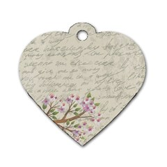Cherry blossom Dog Tag Heart (One Side)