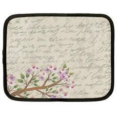 Cherry blossom Netbook Case (Large)