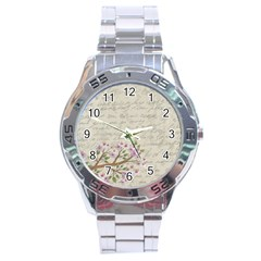 Cherry blossom Stainless Steel Analogue Watch