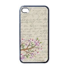 Cherry blossom Apple iPhone 4 Case (Black)