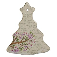 Cherry blossom Christmas Tree Ornament (Two Sides)