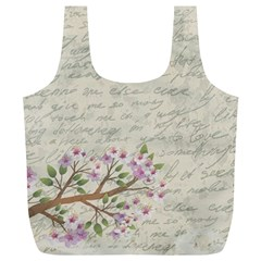Cherry blossom Full Print Recycle Bags (L)