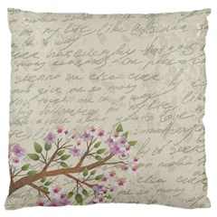Cherry blossom Large Flano Cushion Case (One Side)