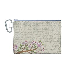 Cherry blossom Canvas Cosmetic Bag (M)