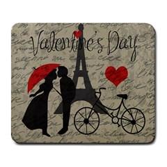 Love letter - Paris Large Mousepads
