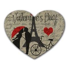 Love letter - Paris Heart Mousepads
