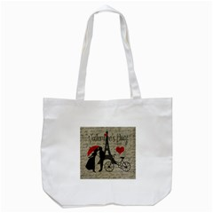Love letter - Paris Tote Bag (White)