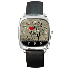 Love letter Square Metal Watch