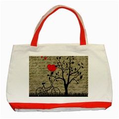 Love letter Classic Tote Bag (Red)