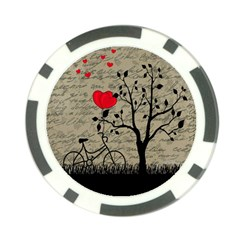 Love letter Poker Chip Card Guard