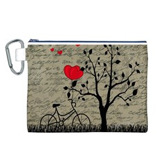 Love letter Canvas Cosmetic Bag (L)
