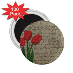 Vintage tulips 2.25  Magnets (100 pack)
