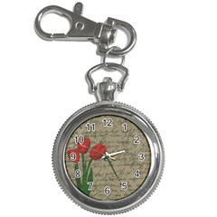 Vintage tulips Key Chain Watches