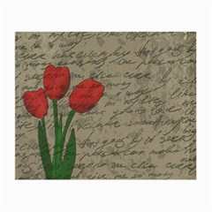 Vintage tulips Small Glasses Cloth