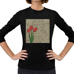 Vintage tulips Women s Long Sleeve Dark T-Shirts