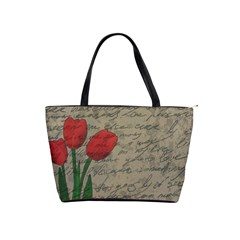 Vintage tulips Shoulder Handbags