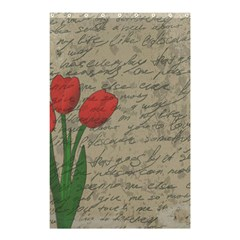 Vintage tulips Shower Curtain 48  x 72  (Small)