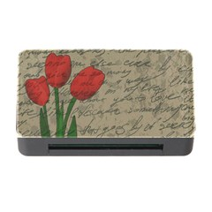 Vintage tulips Memory Card Reader with CF