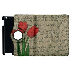 Vintage tulips Apple iPad 2 Flip 360 Case