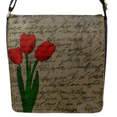 Vintage tulips Flap Messenger Bag (S)