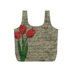 Vintage tulips Full Print Recycle Bags (S)