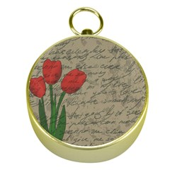 Vintage tulips Gold Compasses