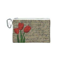 Vintage tulips Canvas Cosmetic Bag (S)