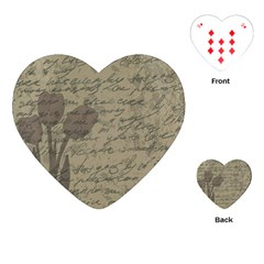 Vintage tulips Playing Cards (Heart)