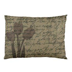 Vintage tulips Pillow Case (Two Sides)