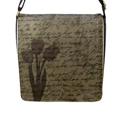 Vintage tulips Flap Messenger Bag (L)