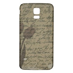 Vintage tulips Samsung Galaxy S5 Back Case (White)