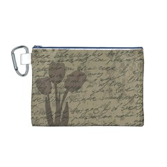 Vintage tulips Canvas Cosmetic Bag (M)