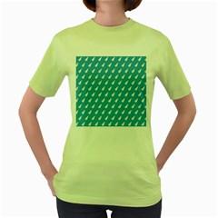 Air Pattern Women s Green T-Shirt