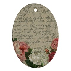 Vintage roses Ornament (Oval)